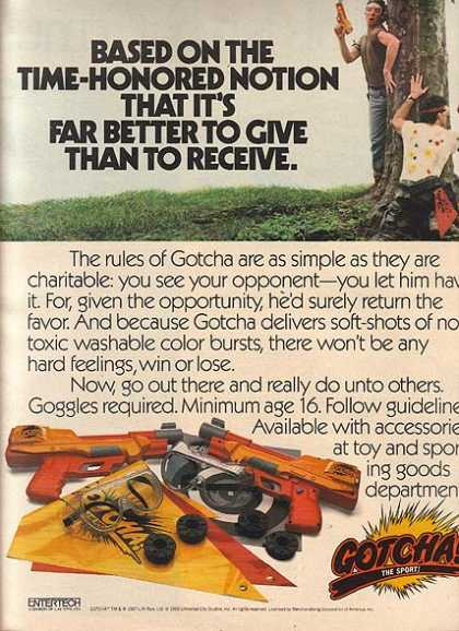 Gotcha's Paint Ball Sets (1987)