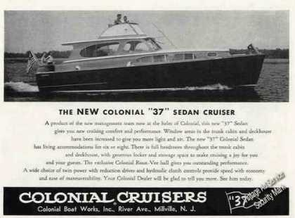 Colonial 37 Sedan Cruiser Millville Nj Photo (1956)