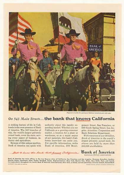Salinas CA Rodeo Pageantry Bank of America (1954)