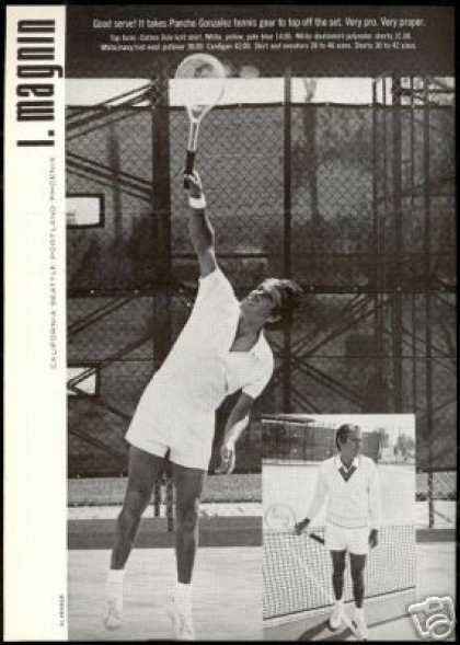 Pancho Gonzalez Photo Tennis Fashion I Magnin (1971)