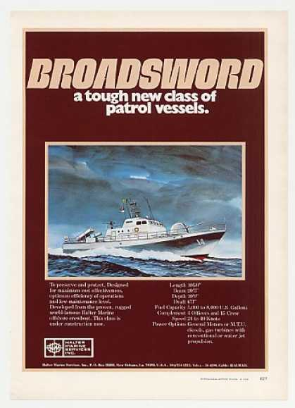 Halter Marine Broadsword Patrol Boat Photo (1976)