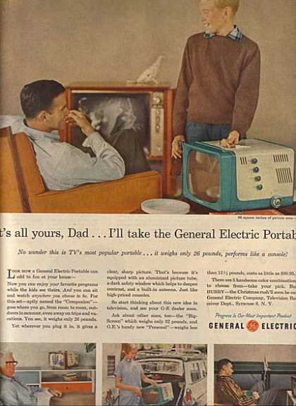General Electric's Portable Televisions (1956)