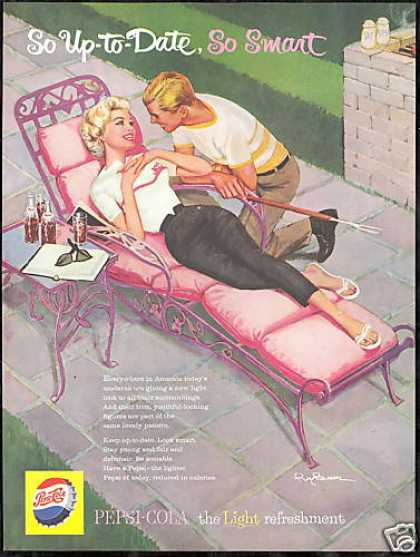 Besser Pink Lounge Chair Art Pepsi Cola (1959)