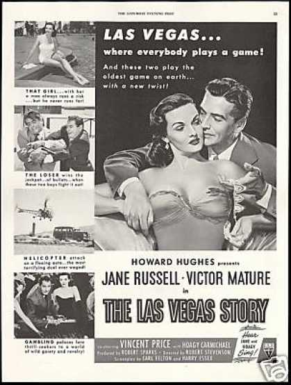 Howard Hughes Jane Russell Victor Mature Movie (1952)