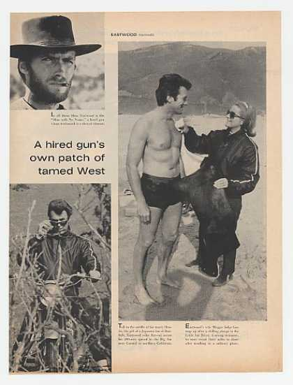 Clint Eastwood Rawhide Movie 2-Page Photo Article (1967)