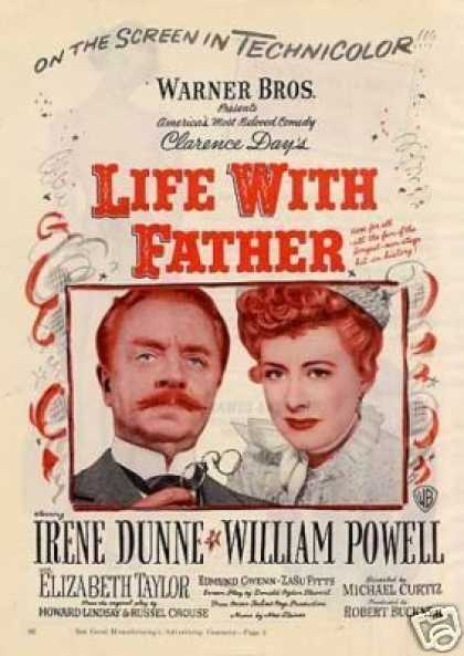 "Movie Ad ""Life With Father"" Irene Dunne (1947)"