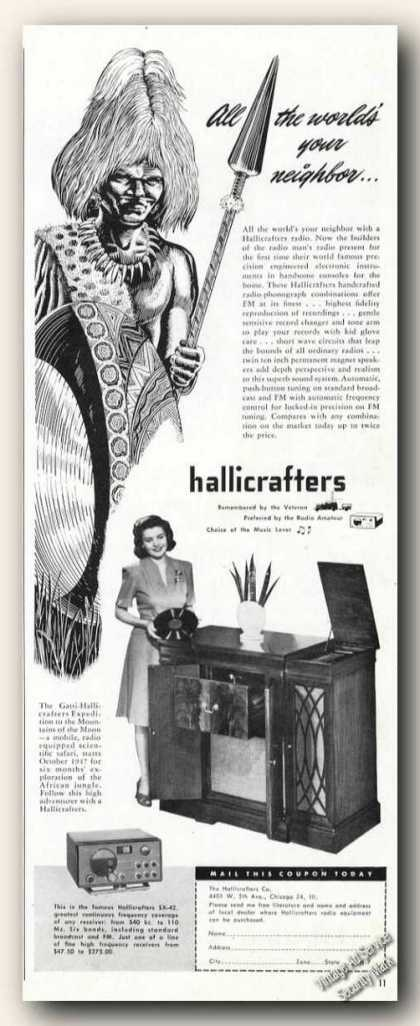 Hallicrafters Handcrafted Radio-phonograp (1947)