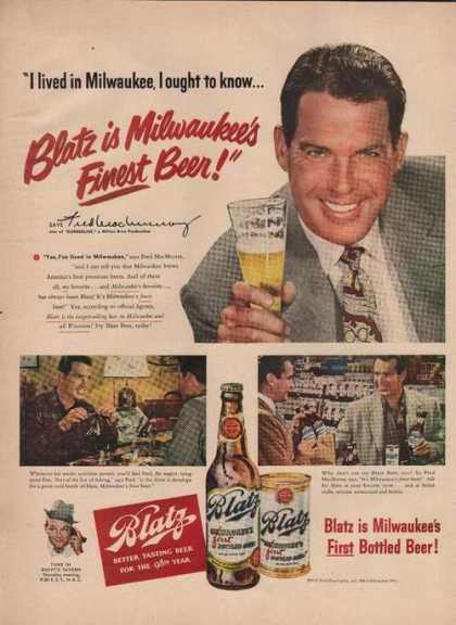 Fred Mac Murray for Blatz Beer (1949)