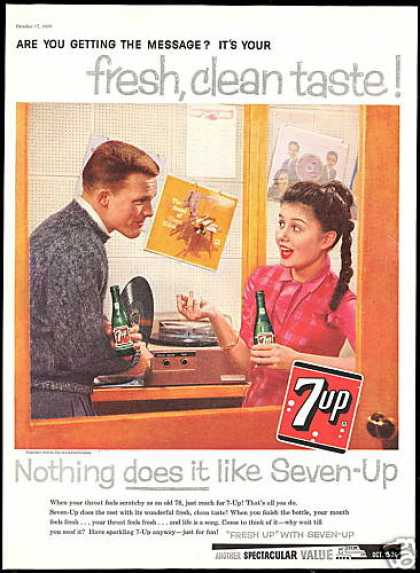 Seven up 7up 78 Record Album 7-up Vintage (1959)