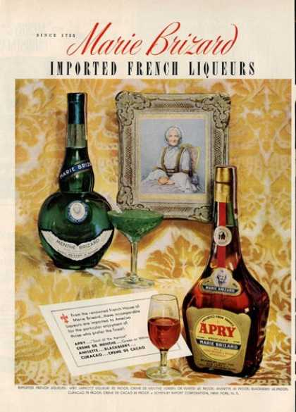 Marie Brizard Liqueur Apry Bottle (1950)