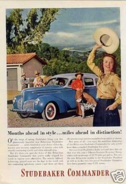 "Studebaker Commander Car Ad ""Months Ahead In Style (1940)"