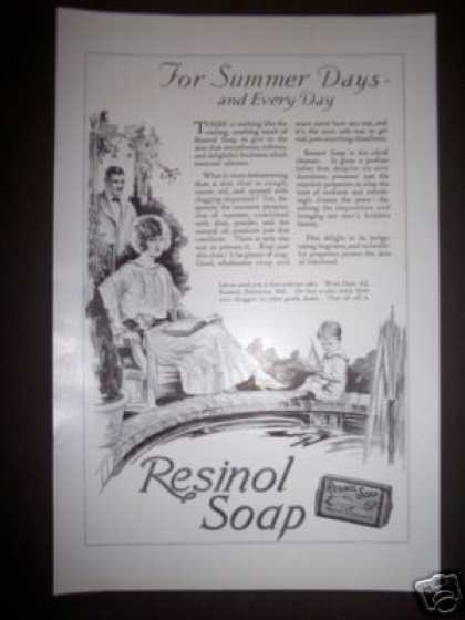 Original Art Deco Resinol Soap (1923)