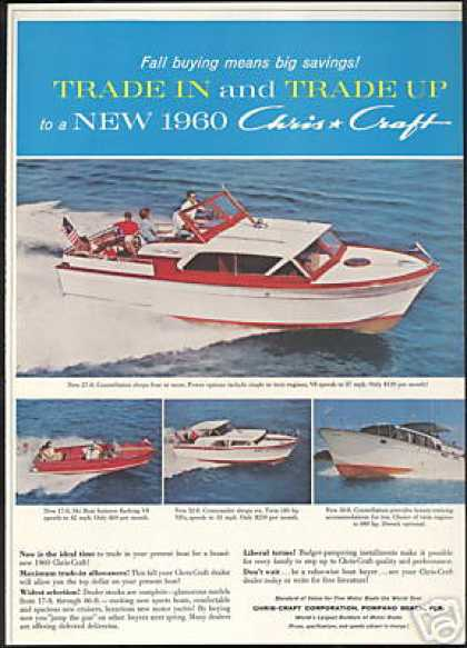 Chris Craft Yacht 4 Boat 27, 17, 32, 50, Ft (1959)