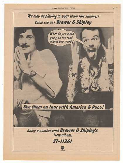 Brewer & Shipley Tour Album Promo Photo (1974)