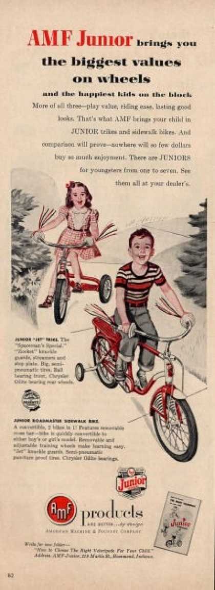 Amf Products Jet Trike Tricycle Bike Ad T (1953)