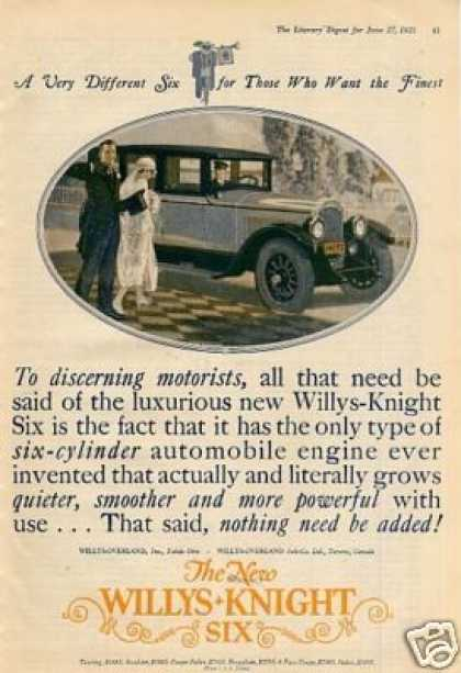 Willys Knight Six Car Color (1925)