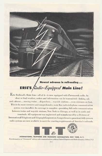 Erie Railroad Main Line IT&T Farnsworth Radio (1954)
