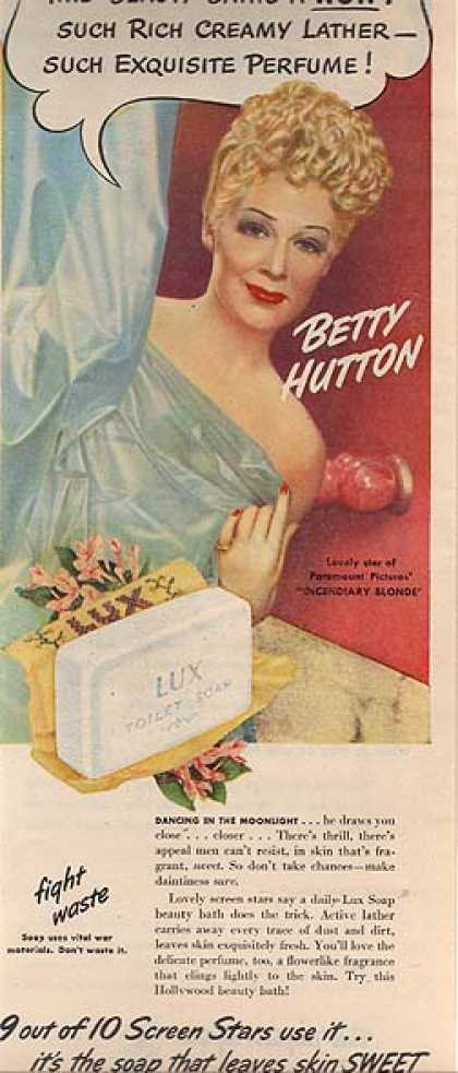 Lux Toilet Soap – Betty Hutton (1945)