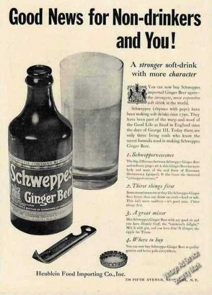 Schweppes Ginger Beer Most Expensive Soft Drink (1950)