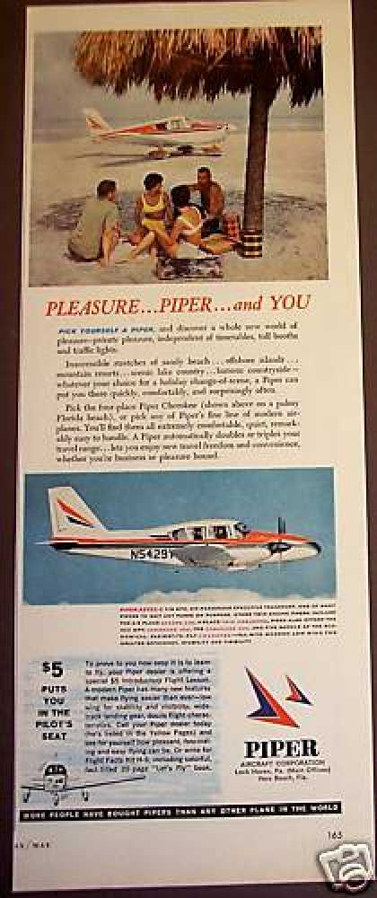 Piper Aircraft Aztec C & Cherokee Planes Photo (1965)