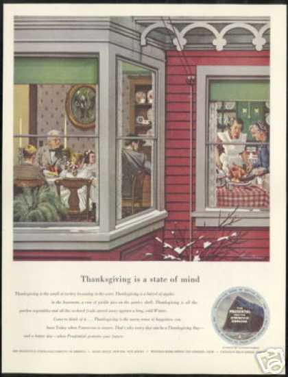 Dohanos Art Thanksgiving Prudential Insurance (1950)