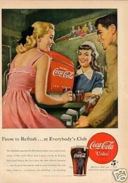 "Coca-cola Ad ""Pause To Refresh... (1948)"