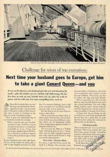 Queen Elizabeth Deck Photo Cunard (1964)