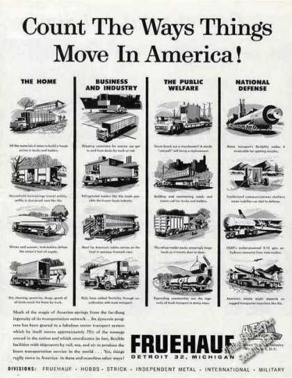 """The Way Things Move In America"" 16 Trailers (1962)"
