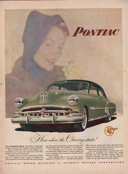 Cheering Starts With Pontiac Car (1949)
