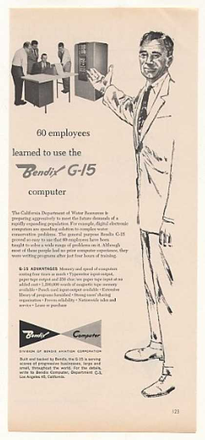 California Dept of Water Bendix G-15 Computer (1958)