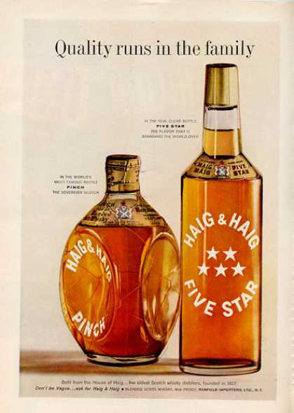 Haig 5 Star Pinch Scotch Whisky Bottle (1960)