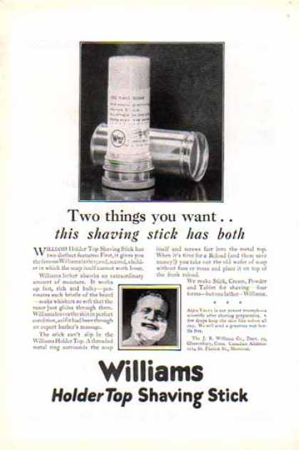Williams Holder Top Shaving Stick – J.B. Williams (1926)