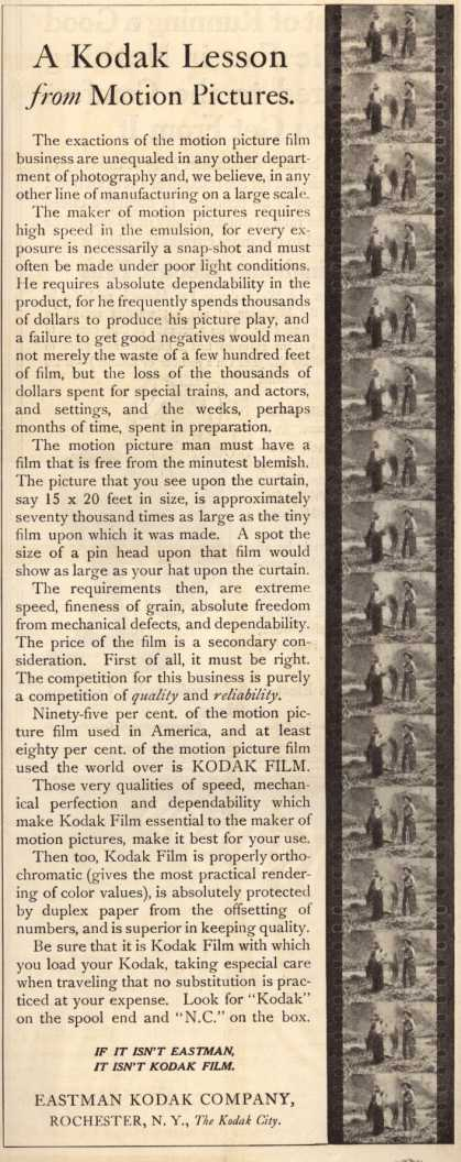 Kodak – A Kodak Lesson from Motion Pictures (1911)