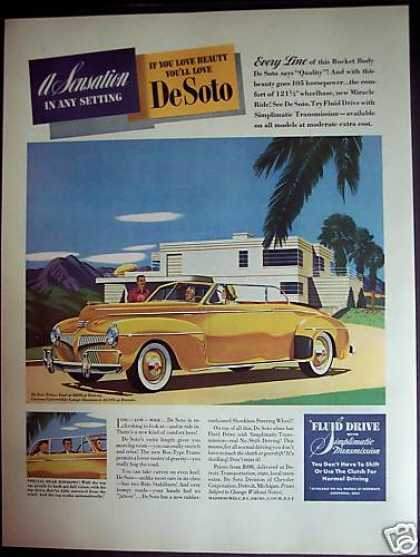 Yellow De Soto Automobile Car (1941)