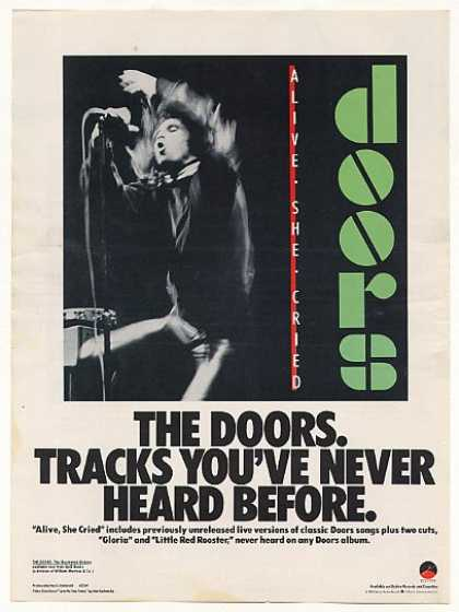 The Doors Alive She Cried Elektra Records (1983)