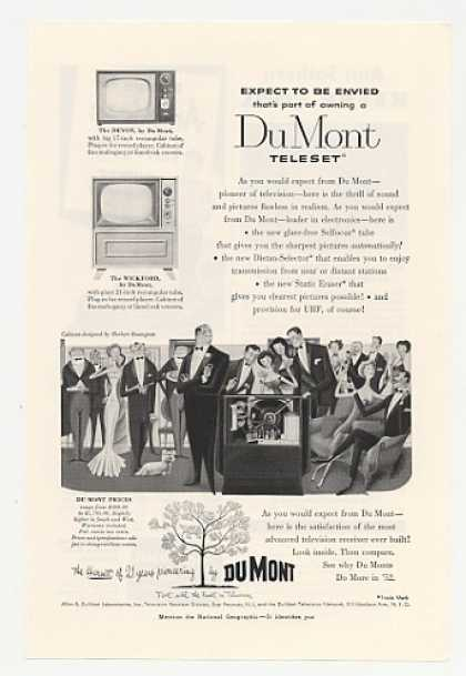 Du Mont Teleset Devon Wickford TV Television (1952)