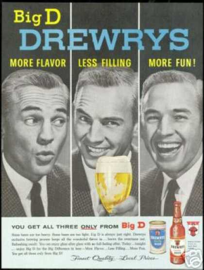 Drewrys Extra Dry Beer Vintage Can Bottle Photo (1961)