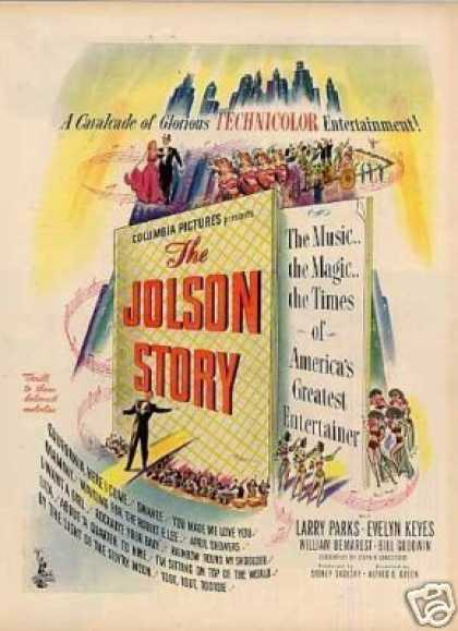"Movie Ad ""The Jolson Story"" (1946)"