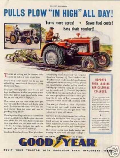 "Goodyear Tire Ad ""Pulls Plow... (1934)"