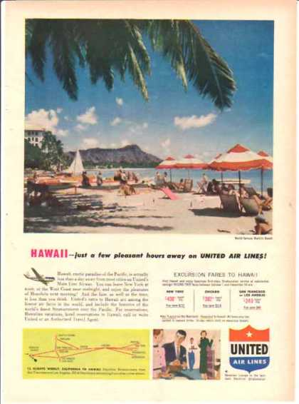 United Air Lines – Hawaii Fare (1952)