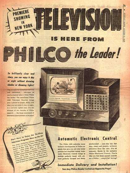 Philco's Automatic Electronic Control – Television is here from Philco the Leader (1947)