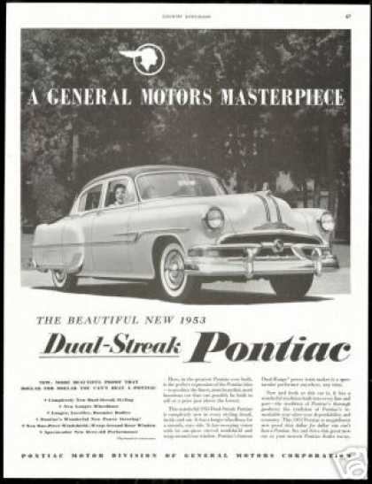 Pontiac Dual Streak 4 Dr Vintage Photo Car (1953)
