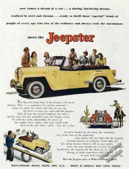 """Meet the Jeepster"" Impressive Car (1948)"