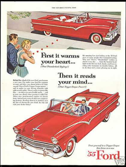 Ford Fairlane Sunliner Convertible Car (1955)