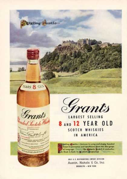 Grant's Scotch Whisky Stirling Castle (1952)