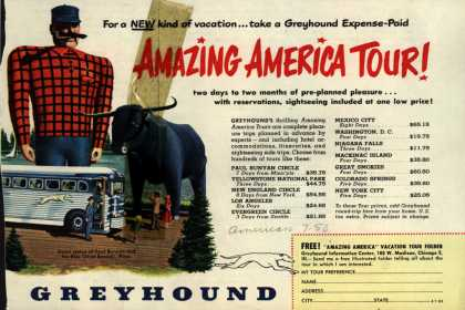 Greyhound's America Tours – Amazing America Tour (1950)