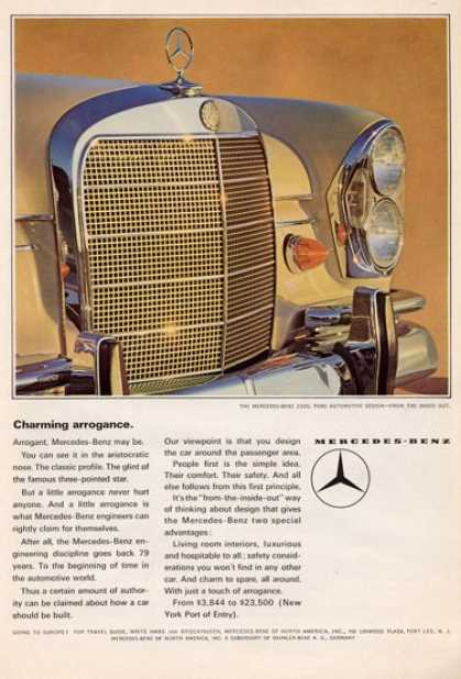 Mercedes Benz 220s Charming Arrogance. (1965)