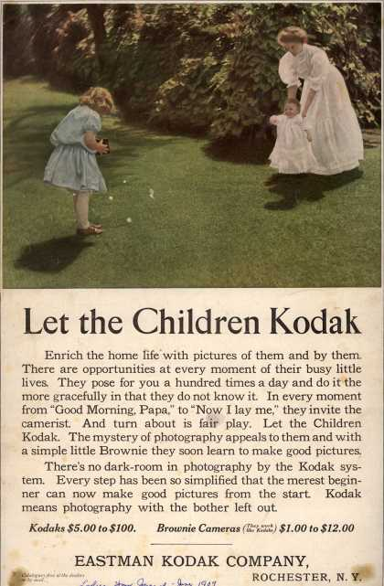 Kodak &#8211; Let the Children Kodak (1909)