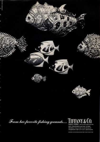 Tiffany & Co. Fish Brooch Pins Fishing (1965)