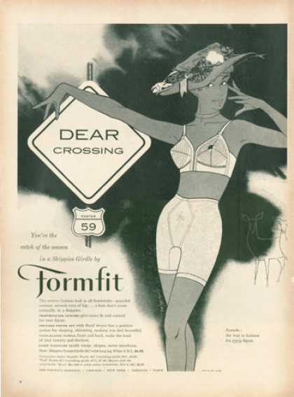 Formfit Skippies Girdle Bra Dear Crossin (1959)